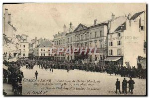 Old Postcard Chalon sur Saone Funerals Doctor Mauchamp murders in Marrakech M...
