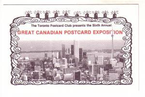 Great Canadian Postcard Exposition, Sixth Annual, 1987, Toronto Ontario No 018