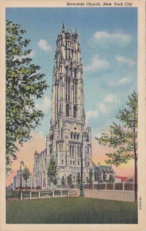 New York City Riverside Church Curteich