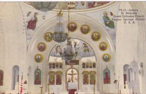 Florida Tarpon Springs St Nicholas Greek Orthodox Church Interior 1960 Curteich