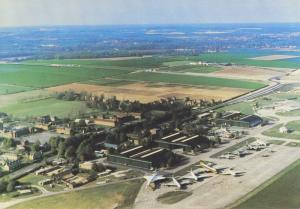 Duxford Airfield Airport Aerodrome Aerial Cambridge England UK Postcard D23