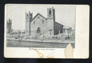 LAS VEGAS NEW MEXICO OLD CHURCH BUILDING ANTIQUE VINTAGE N.M. POSTCARD