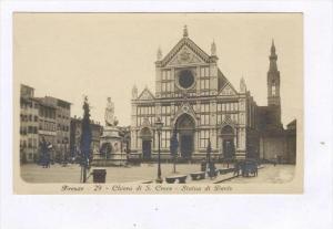 RP, Chiesa Di S. Croce, Statua Di Dante, Firenze (Tuscany), Italy, 1920-1940s