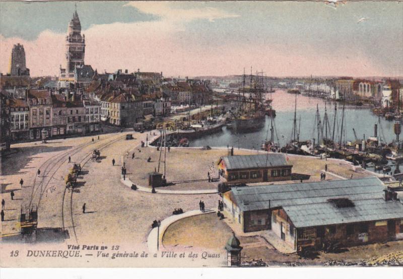 DUNKERQUE, Nord, France; Vue generale de Ville et des Quais, 00-10s