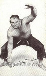 Farmer don Marlin Non Postcard Backing - Wrestler, Wrestling Old Vintage Anti...