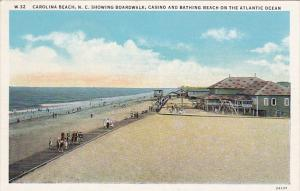 CAROLINA BEACH, North Carolina, Showing Boardwalk, Casino adn Bathing Beach o...