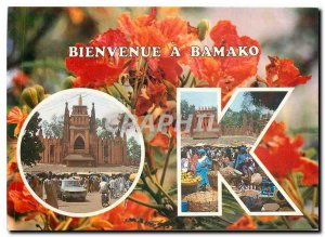 Modern Postcard Welcome to Bamako