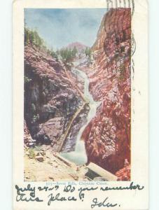 Pre-1907 SEVEN FALLS IN SOUTH CHEYENNE CANYON Colorado Springs Colorado CO n5762