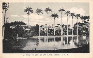Barbados West Indies Post card Old Vintage Antique Postcard Codrington Collge...