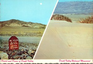 California Death Valley National Monument Sand Dunes and Prospector's Grave