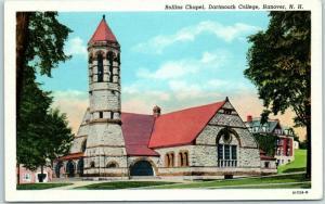 Hanover, New Hampshire Postcard Rollins Chapel, DARTMOUTH COLLEGE 1930s Unused