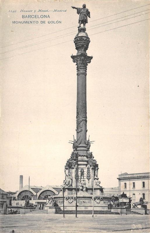 Br33355 Barcelona Monumento de Colon spain