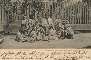 brazil, BLUMENAU, Native Bugres Women and Children (1906) Postcard