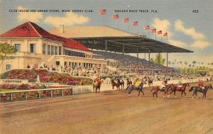 Club House & Grand Station Horse Racing, Trotter, Trotters, Postcard Unused