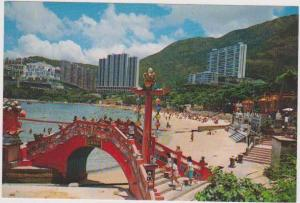 #90: Bathers on Beach, Repulse Bay, Southern District, Hong Kong, China
