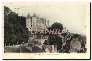 Old Postcard Pau Le Chateau And Park
