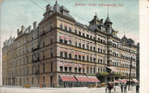Denison Hotel, Indianapolis, Indiana, early postcard, used in 1909