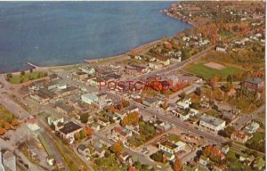 AERIAL VIEW OF L'ANSE, MICHIGAN in the U.P. on Keweenaw Bay