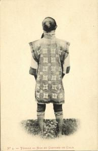 china, YUNNAN 云南省, Native Man in Gala Costume (1910s) Postcard