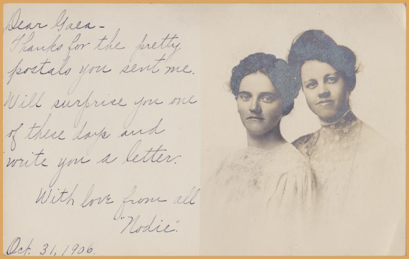 RPPC-Two Pretty Ladies 1906