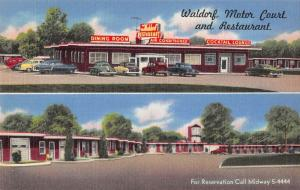 Waldorf Maryland Waldorf Motor Court and Restaurant Linen Antique PC J41325
