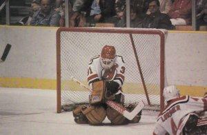 NHL ; New Jersey Devils Ice Hockey Player Craig Billington , 1985/1986