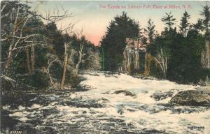 C-1907 hand colored Rapids Salmon Falls river Milton New Hampshire Willey 2670