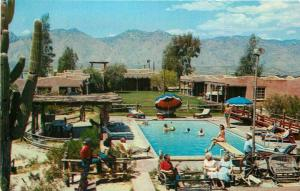 Barra Nada Ranch Lodge 1950s Postcard pool Tuscon Arizona Petley 3991