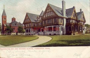 pre-1907 FAIRHAVEN INN AND ROGERS SCHOOL, FAIRHAVEN, MASS. 1906