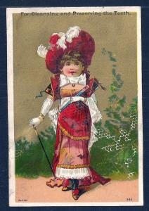 VICTORIAN TRADE CARDS (3) Cleaning & Preserving Teeth