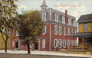 Dillsburg Pennsylvania Public School Street View Antique Postcard K44556