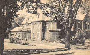 Woodsville New Hampshire~County Building~1930s Sepia Litho Postcard