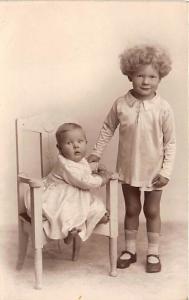 2 Kids Child, People Photo Unused