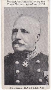 Trade Cards The Press Bureau MILITARY PORTRAITS No 23 Gen. Curieres de Castlenau