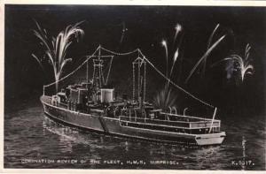 HMS Surprise Queen Elizabeth 2 Ship Coronation Postcard