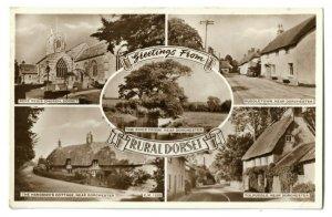 Vintage Postcard Greetings from Rural Dorset, Puddletown Hangman's Cottage 1957