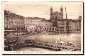 Old Postcard Bastia Old Port and St John & # 39Eglise