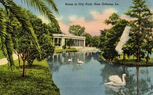 LA - New Orleans. City Park Scene