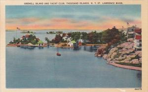 New York Thousand Islands Grenell Island and Yacht Club Saint Lawrence River