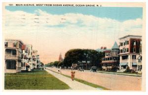 15502  NJ  Ocean Grove    Main Ave, West from Ocean Ave