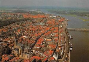 Netherlands Kampen Panorama General view Bridge River Boats Bateaux