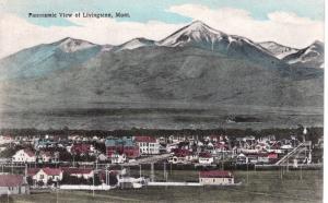 Panoramic View of Livingston, Montana