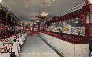F70/ Detroit Michigan Postcard c1910 Cream of Michigan Café Interior
