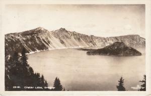 RPPC Crater Lake, Oregon - A Sawyer Scenic Photo - pm 1941