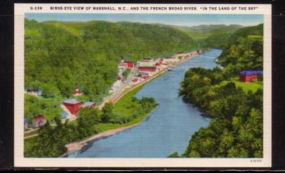 North Carolina colour PC Marshall French Broad River
