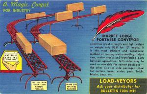 Everett MA Market Forge Company Load-Veyors Advertising Linen Postcard