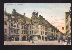 MUNCHEN GERMANY KGL. HOFBRAUHAUS DOWNTOWN ANTIQUE VINTAGE POSTCARD