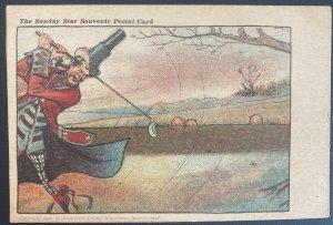 Mint USA Vintage Picture Postcard PPC The Sunday Star souvenir 1904