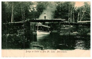 New York   Bridge at Outlet of  Blue Mountain Lake