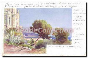 Old Postcard Menton Hotel Cap Marein